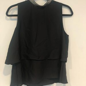 Zara High-Neck Top